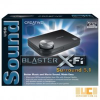 Внешняя USB Зв карта Creative Sound Blaster X-Fi Surround 5.1 PRO