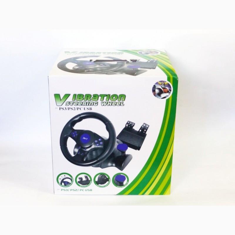 Фото 2. Руль с педалями 3в1 Vibration Steering wheel