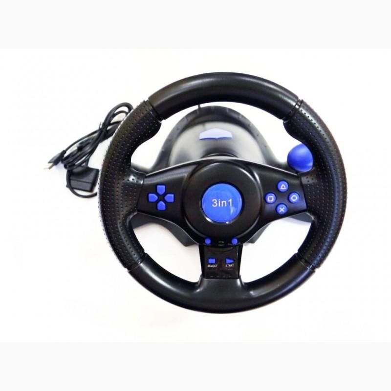 Фото 4. Руль с педалями 3в1 Vibration Steering wheel