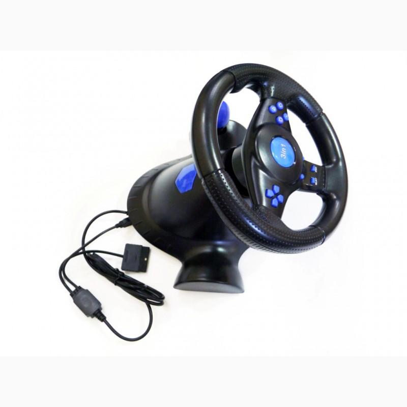 Фото 6. Руль с педалями 3в1 Vibration Steering wheel