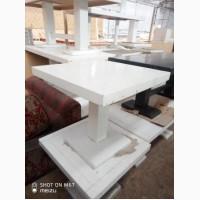 Столы деревянные низкие белые б/у