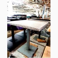 Продам столы б/у (столешница – верзалит под мрамор, нога – металл)