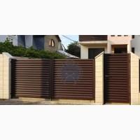 Заборы и ворота -жалюзи из металлических ламелей