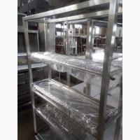 Продам новый стеллаж сушку из нержавеющей стали для общепита