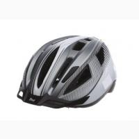 Велошлем+Мигалка Crivit L/XL серый-белый RLA-550234