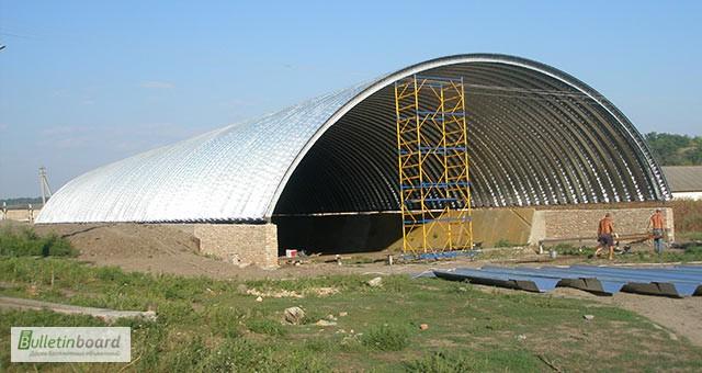 Фото 12. Бескаркасные арочные ангары, напольные зернохранилища, склады