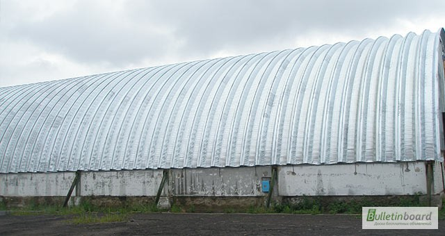 Фото 14. Бескаркасные арочные ангары, напольные зернохранилища, склады