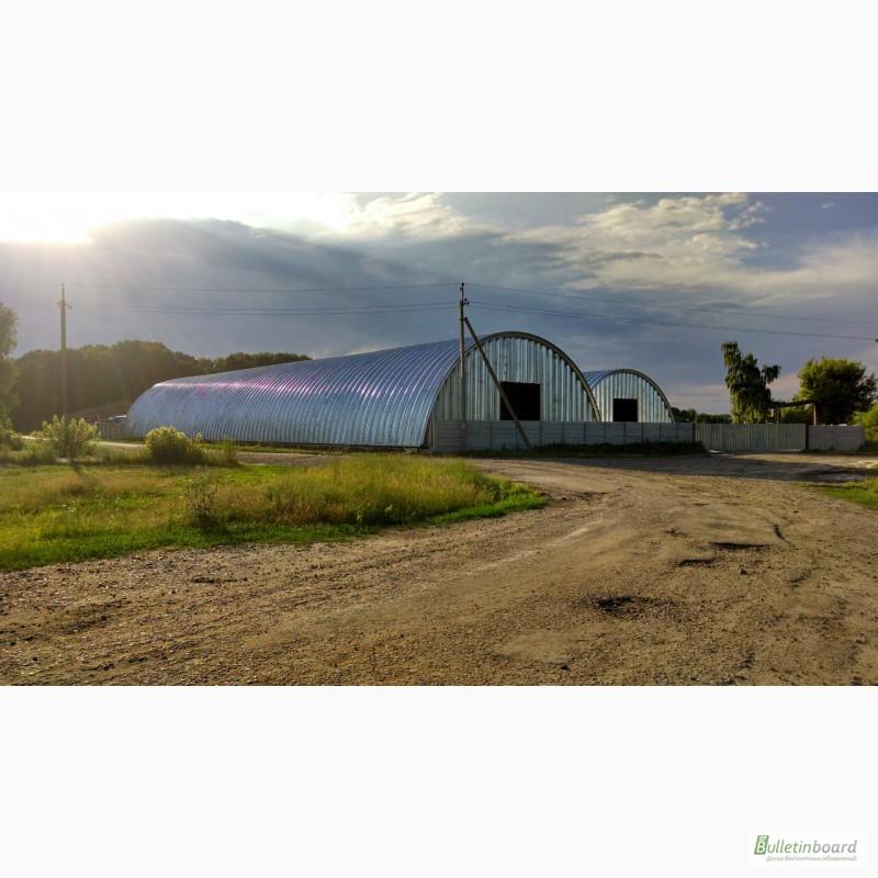 Фото 16. Бескаркасные арочные ангары, напольные зернохранилища, склады