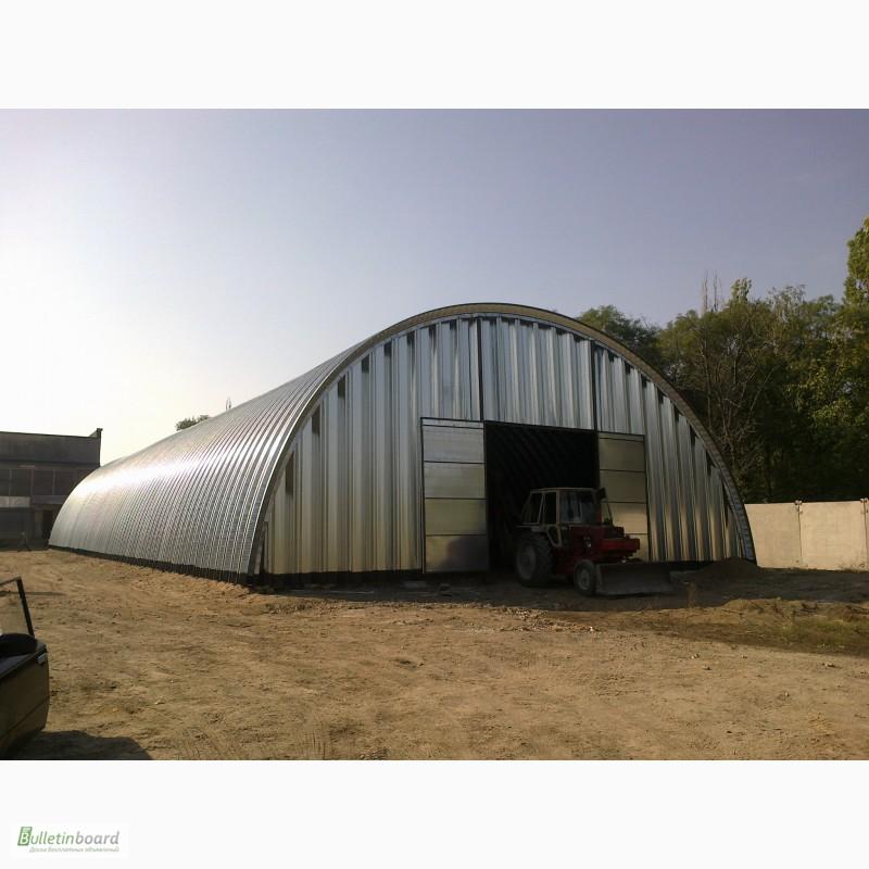 Фото 5. Бескаркасные арочные ангары, напольные зернохранилища, склады