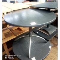 Продам стол б/у круглый верзалит серого цвета