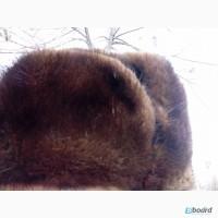 Мужская норковая шапка ушанка. Размер 56-58