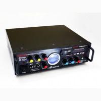 Усилитель звука Sonixin AV-339BT + USB + КАРАОКЕ 2микрофона Bluetooth