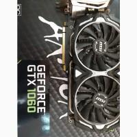 ВидеоКарту MSI ARMOR GeForce GTX 1060 3GB GDDR5 192bit бу