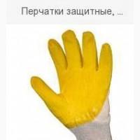 Перчатки защитные, вязанные прочные х/б/латекс желтый