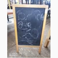 Продам штендер меловой б/у для кафе