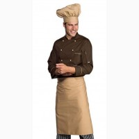 Комплект повара Шоколад, китель + фартук + колпак