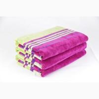 Набор полотенец, 2 шт, 40*60 см, велюровое желто розовое