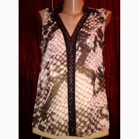 Нарядная шелковая блузка расцветки питона размер 50