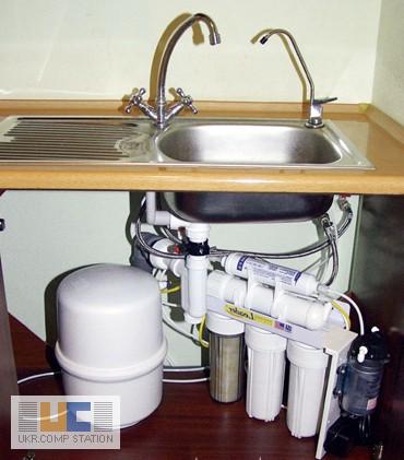 Установка фильтра для воды под мойку своими