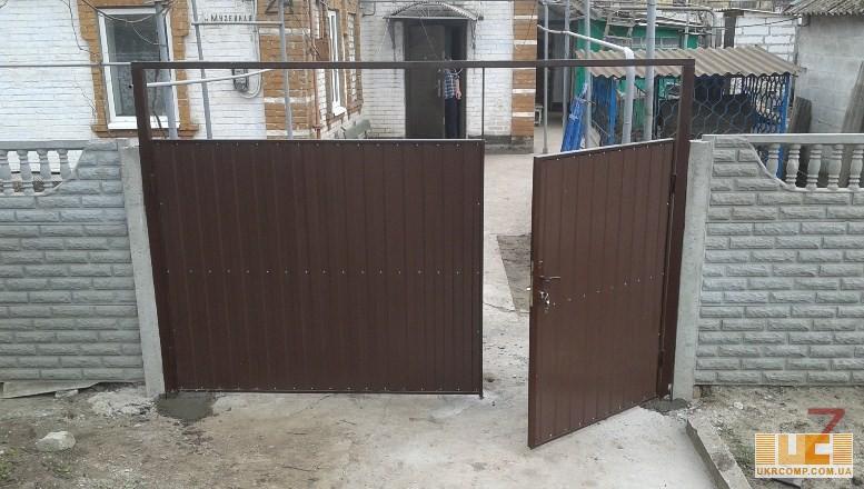 купить распашные ворота в запорожье