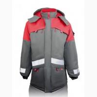 Куртка удлиненная утепленная рабочая Грей
