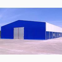 Ангар, склад, СТО.Монтаж металоконструкцій і сендвіч-панелей