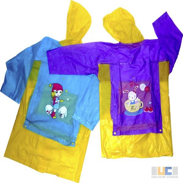Фото 5. Виниловые детские дождевики плотные