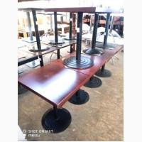 Столы б/у ДСП на металлической ноге