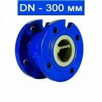Клапан обратный подпружиненный фланцевый DN 300, чугунный/ до +130 С / EPDM / PN16