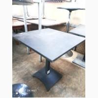 Стол металлический б/у темно-серого цвета