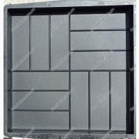 Формы тротуарной плитки 12-кирпичей 50х50 см шагрень