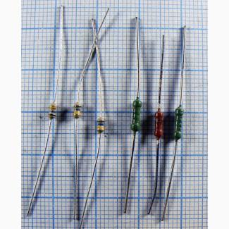 Резисторы выводные 0.125вт (152 номинала) 10 шт. по цене 0.3 Грн. 1000 шт. по 0.1 Грн
