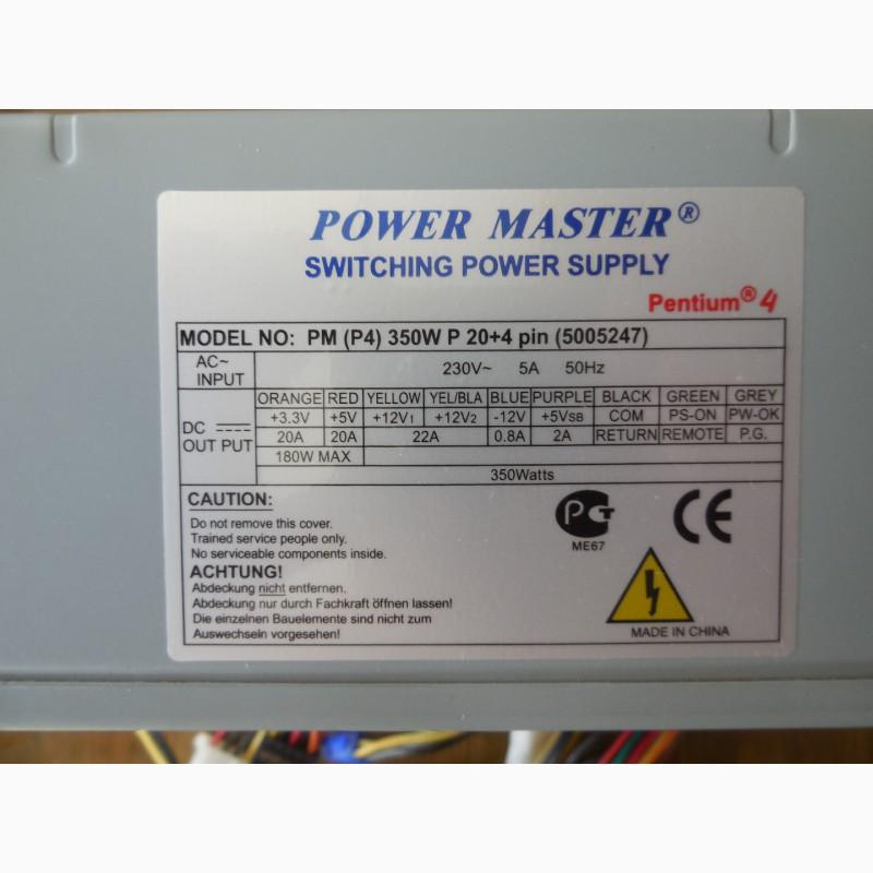 Фото 2. Блок питания Power Master PM P4 350W P 204 pin 80FAN