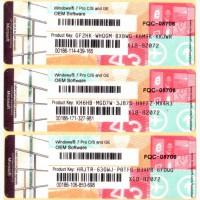 Продам Лицензионные наклейки Windows 7 Professional 64-bit, RUS, OEM (FQC-08297) (FQC-08706)