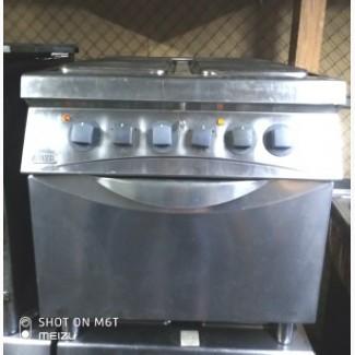 Плита профессиональная б/у Zanussi kcf/e2 электрическая на 4 конфорки с духовкой
