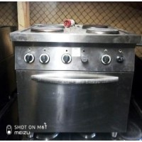 Плита электрическая Efesto ce 874 fp б/у 4 круглые конфорки с духовкой