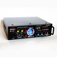 Усилитель звука UKC AV-339BT + USB + КАРАОКЕ 2микрофона Bluetooth