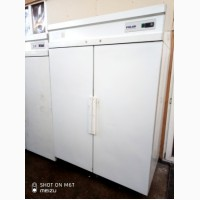 Шкаф холодильный Polair ШХ-1, 4 б/у двухдверный белого цвета
