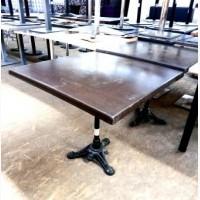 Стол б/у столешница верзалит, нога чугунная коричневого цвета
