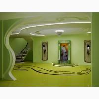 Дизайн водопада по стеклу от дизайн студии Романа Москаленко