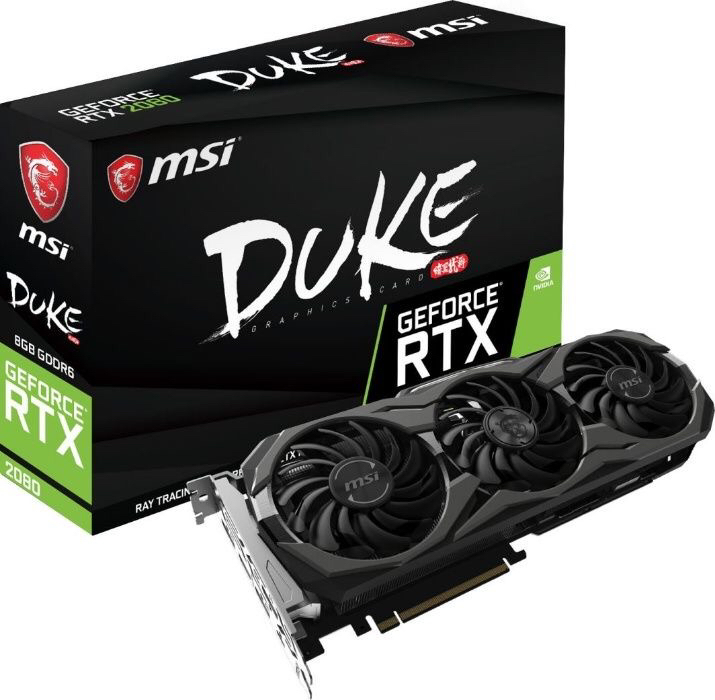 Фото 4. В Наличии. Видеокарта MSI GeForce RTX 2080 DUKE 8G OC