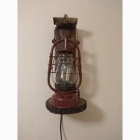Гасова лампа електрична настінна лофт гасовий ліхтар